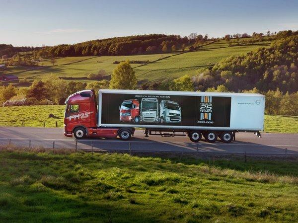 沃尔沃FH系列卡车达成百万辆级交付,25周年庆典之际踏上新征途