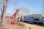 """运粮货车与火车相撞 结果""""两败俱伤"""""""