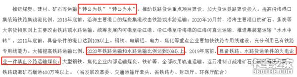 江苏火电企业:运煤炭能走铁路、水运的一律禁止公路运输