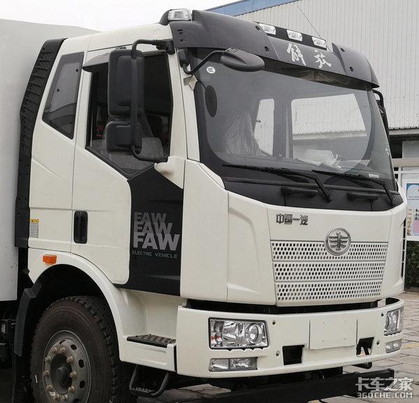 """电池""""裸奔"""",变态级轻量化设计解放推新款纯电动J6L载货车"""