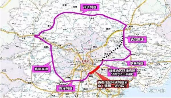 重大消息!首都大外环将有新规划,货运通道将绕出北京了!