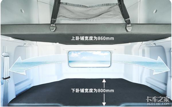 广汽日野宽卧铺牵引车下线卧铺宽800mm