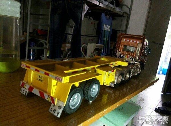 自己动手制作挂车模型,这就是我爱卡车的方式