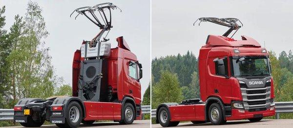 """斯堪尼亚卡车头上长出""""犄角""""e-highway又是怎么回事?"""