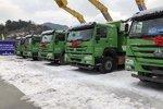 中国重汽环保渣土车 助力贵阳轨道建设