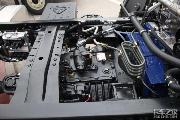 云内190马力动力重载底盘的豪曼国六轻卡图解