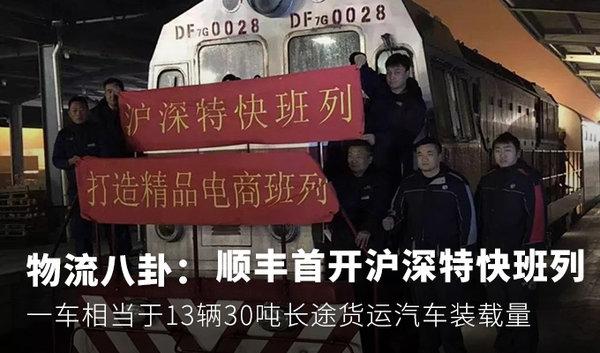 物流八卦:中铁顺丰首开沪深特快班列