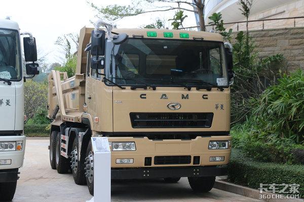 华菱换新内饰四轴渣土车符合深圳标准