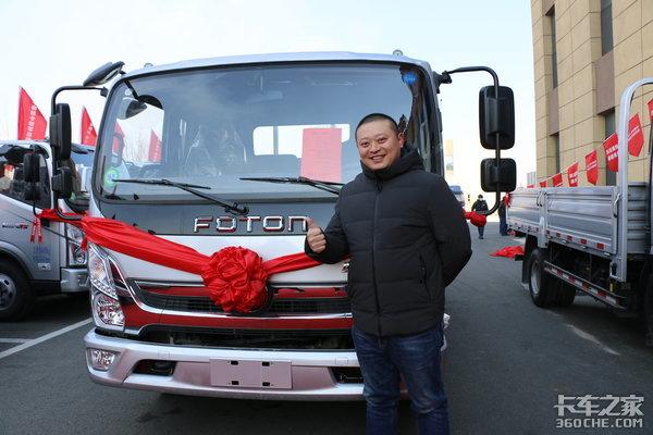 一站式服务,福田奥铃6S店开业这个冷链用户的70辆车全是奥铃!
