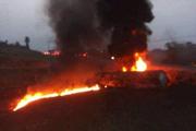 油罐车侧翻!村民哄抢燃油遇爆炸 目击者:死亡人数接近60人