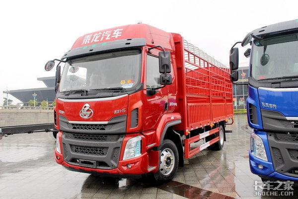 马力升级到240原厂可选真空胎乘龙H5高顶双卧6米8载货车图解