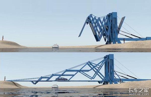 逢山开路、遇水搭桥,折叠卡车你见过吗?