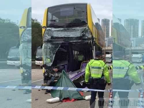 香港一巴士与货车相撞致2人死亡10余人受伤