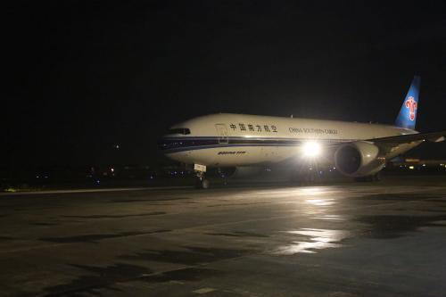 首条直飞黑龙江北美货运包机航线开通