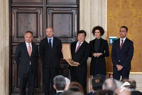 潍柴谭旭光荣获意大利莱昂纳多国际奖