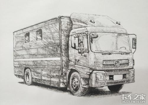 手绘商用车之特种消防车和勤务保障车