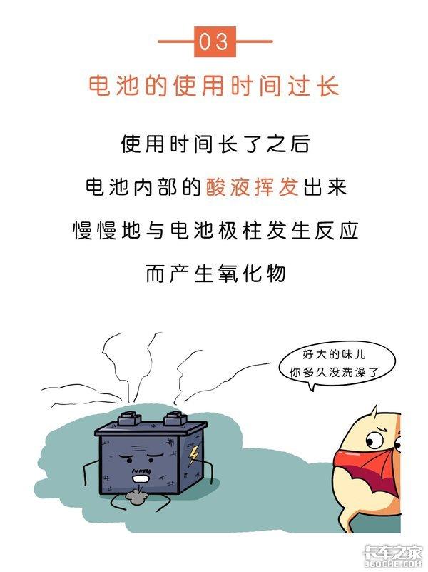 蓄电池上的白色粉末是什么,为啥开水一冲就没了?