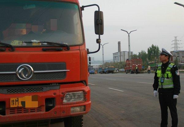 平陆大队多举措持续加强大货车交通违法整治