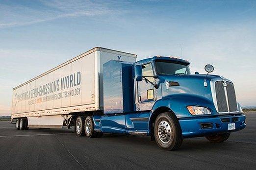 丰田在美国洛杉矶推出氢燃料电池卡车