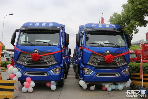 又有大订单!50台豪瀚港拖车成功交付用户