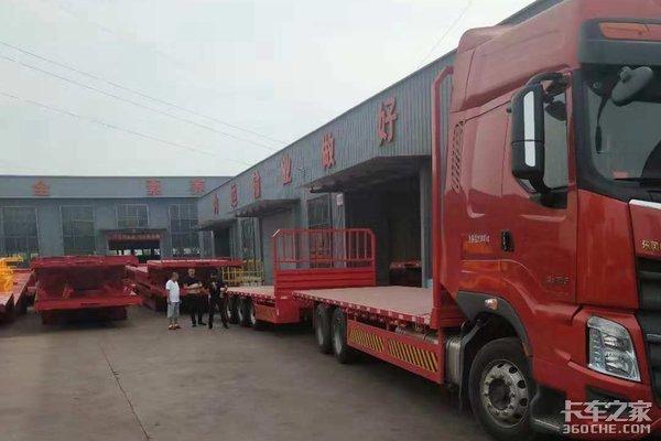 柳汽16.6米中置轴平板运输车上市17.5米大板替代者
