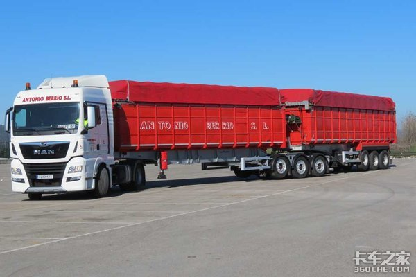 总长25.25米总重60吨这个挂车不一样