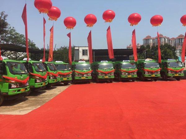 20台江淮新型城市渣土车顺利交车助力建设美好泉州