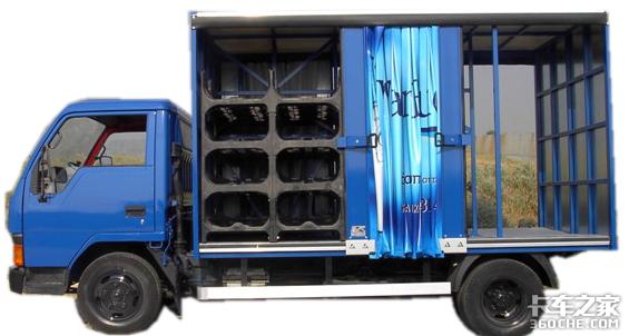 货厢两侧都能装卸,侧帘载货车有搞头吗