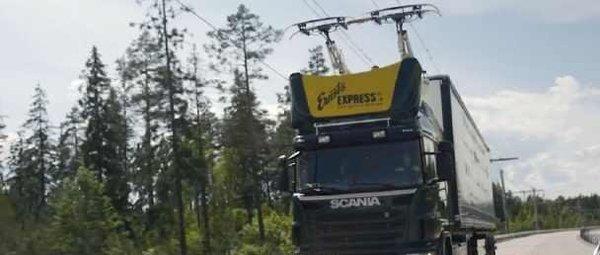 沿高速公路建电网混动卡车的续航焦虑终于可以解决了