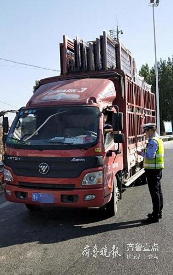 货物超高、超长上高速三辆货车被查处