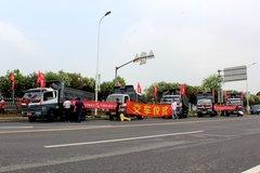 上海建权 14台东风轻型工程交车仪式