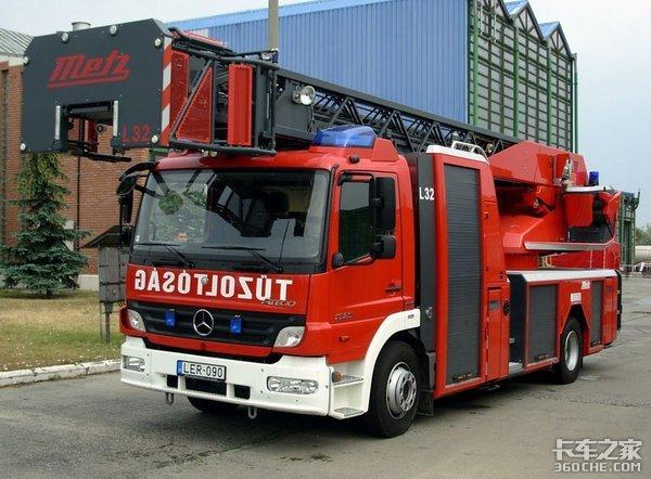 罕见的奔驰Atgeo轻型消防车,退役后可能会送往第三世界发挥余热