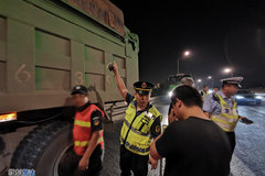 北京联合整治渣土车 4辆货车已被查扣