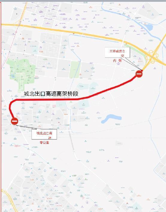成都城北出口高速将施工图解绕行线路