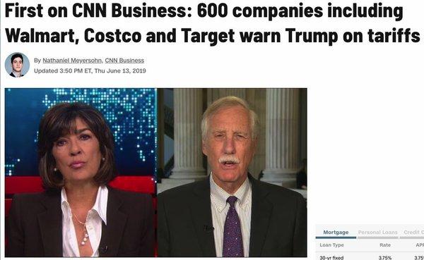 """美661家企业团体联名""""上书""""特朗普:停止对中国增加关税!"""