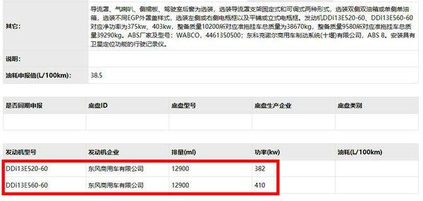 不光只有康明斯ISZ第321批工信部公告:天龙旗舰将搭载DDi13发动机