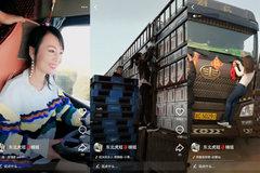 开18米大卡车走遍全中国 美女司机走红