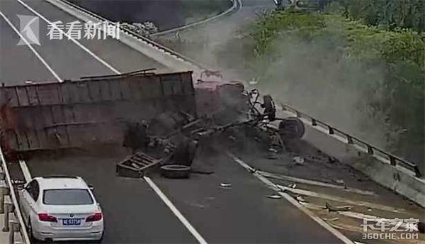 货车猛撞护栏差点翻下高速!只因司机这个坏习惯