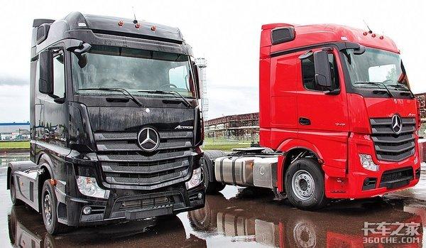 卡玛斯改款重卡与奔驰MP4共用一个驾驶室,还将配国产自动变速箱