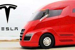 特斯拉纯电动卡车载重路试 后视镜瞩目