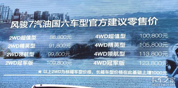 国六标准落地风骏7陕西上市8.68万起售