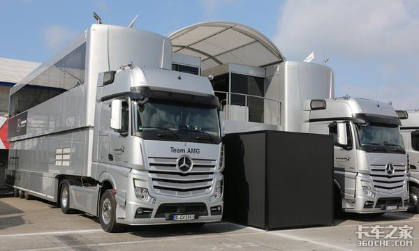 看看欧洲赛车队的拖挂卡车,个个都是高端货