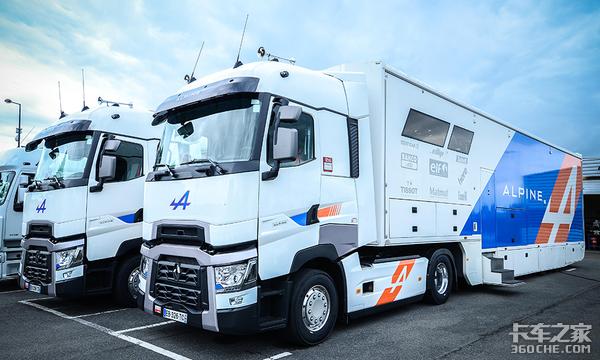 看看欧洲赛车队的拖挂卡车,都是高端货