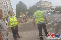郑州中牟:公安对重型货车治理再出重拳