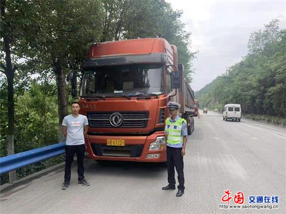 陕西安康汉阴交警:小街中队重拳整治货车超限超载工作