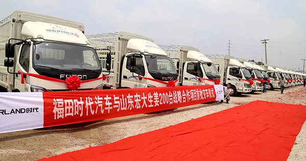 福田时代M3赋能高效的运输蔬菜供应链