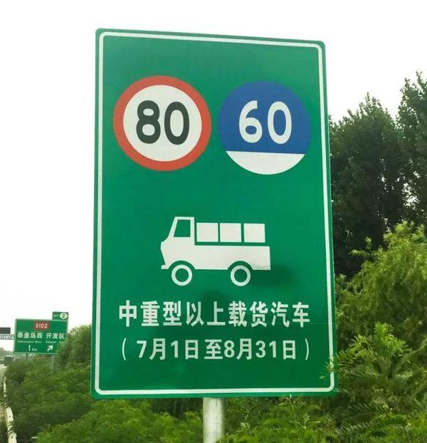 限速80公里每小时河北高速调整夏季货车限速值