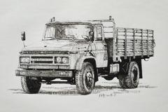 谨以这些手绘军用卡车,向中国军人致敬