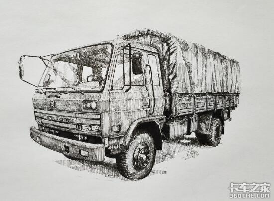 """谨以这些手绘军用卡车,向中国""""强军梦""""致敬"""
