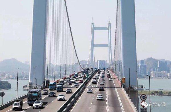 虎门大桥:8月2-15日全天禁行各类货车,附6条绕行路线
